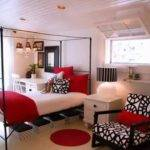 Grey Red Bedroom Ideas Home Design Decorating