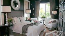 Grey White Black Bedroom Ideas Grasscloth
