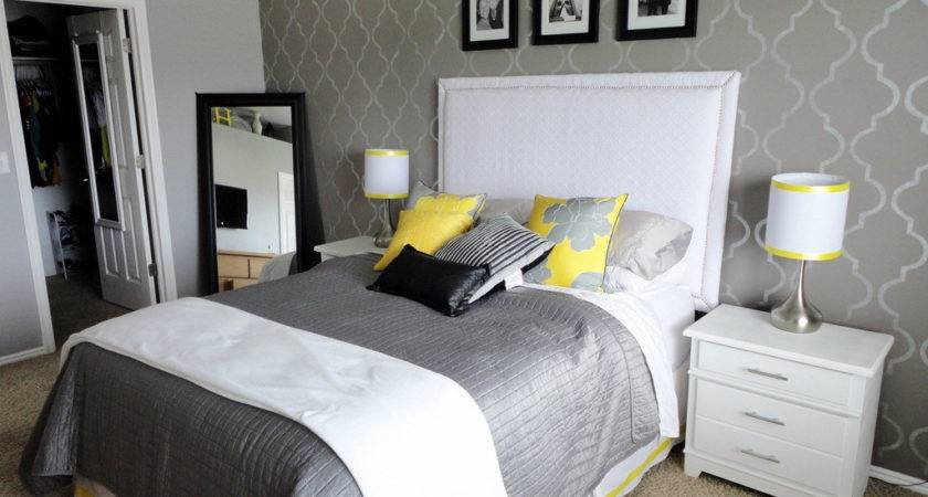 Grey Yellow Black Bedroom Best Interior Wall Paint