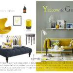 Grey Yellow Home Decor