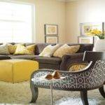 Grey Yellow Living Room Ideas Modern House