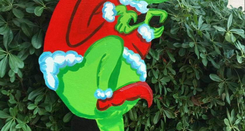 Grinch Cutout Wood Outdoor