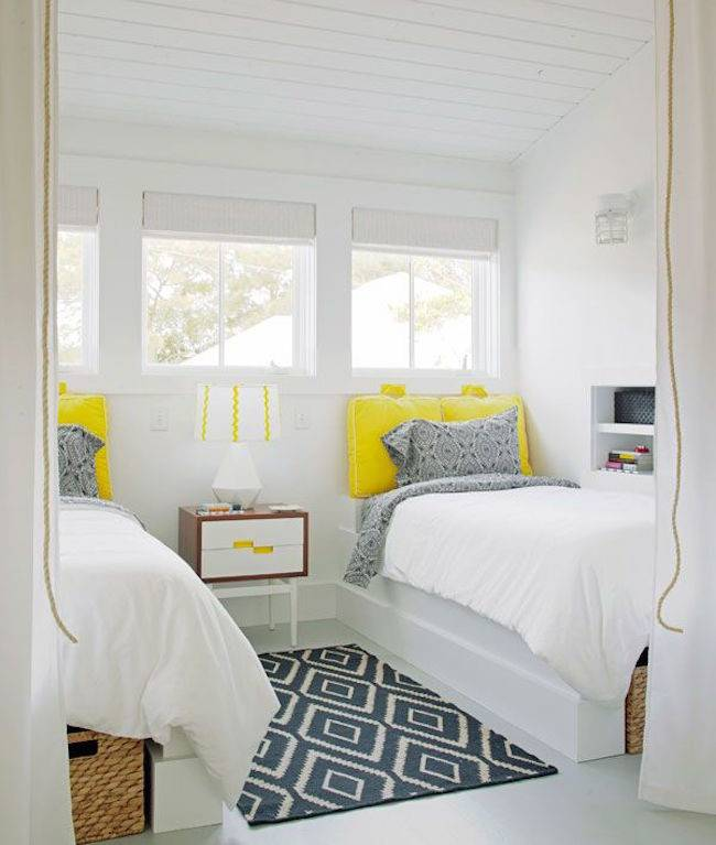 captivating white yellow kitchen ideas | Guest Bedrooms Captivating Twin Bed Designs - Homes Decor