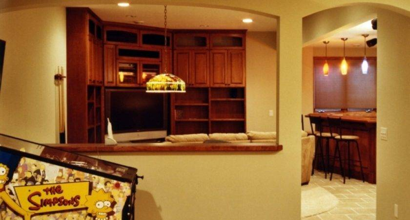 Half Wall Kitchen Designs Breakfast Bar Ideas