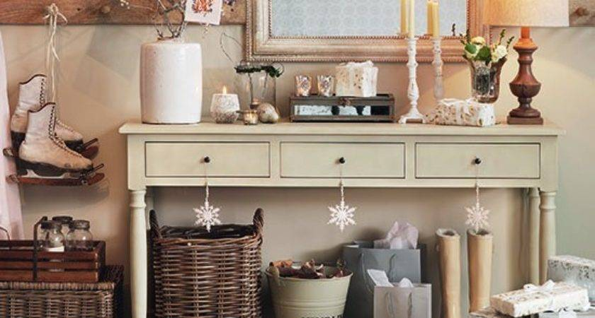 Hallway Console Table Decorations Christmas