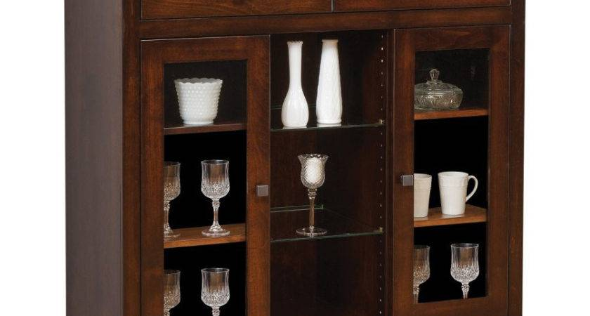 Hampton Collection Small China Cabinet Amish Crafted