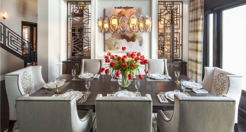 Hamptons Inspired Luxury Dining Room Before After