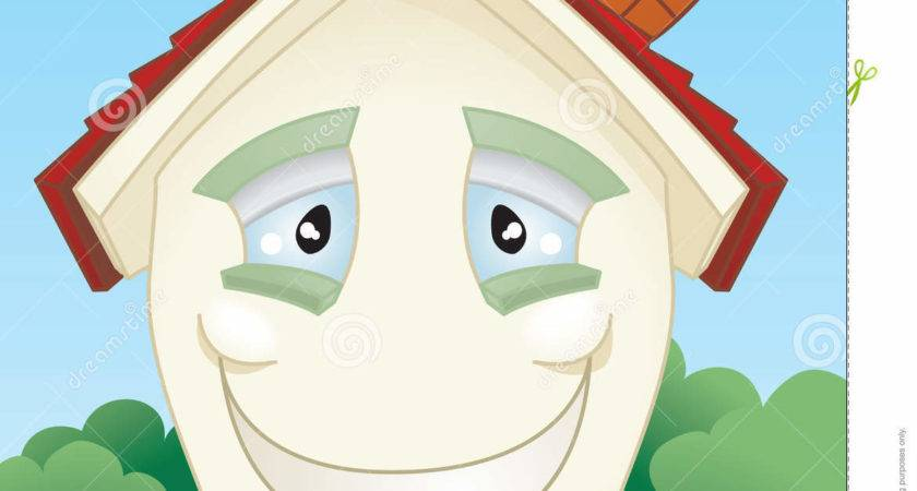 Happy Smiling House Character Vector