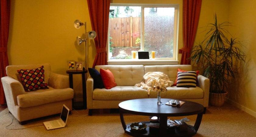 Happy Yellow Living Room Before After Maria Killam