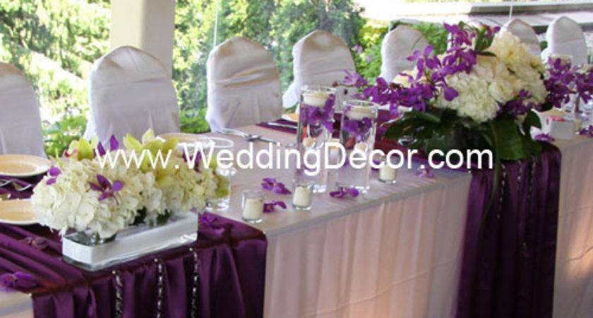 Head Table Decorations Purple White Flickr