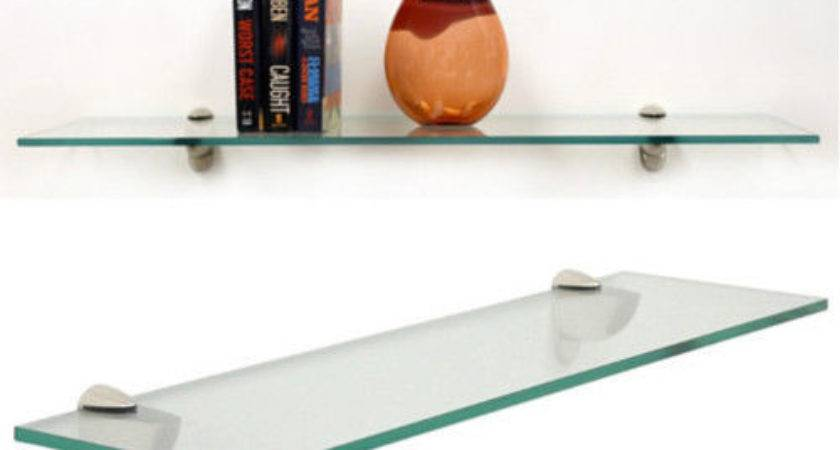 Heron Clear Floating Tempered Glass Shelf
