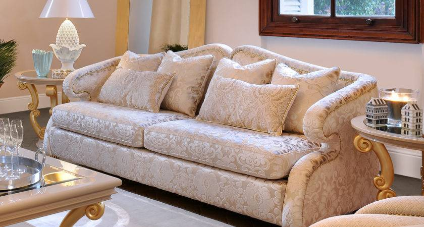 High End Modern Glamour Seater Sofa Juliettes