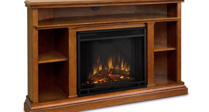 High Light Brown Wooden Fireplace Between Small Storage