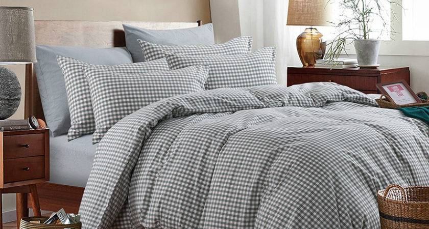 High Quality Washed Cotton Plaid Duvet Covers