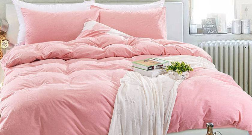 High Quality Washed Cotton Solid Colour Duvet Covers