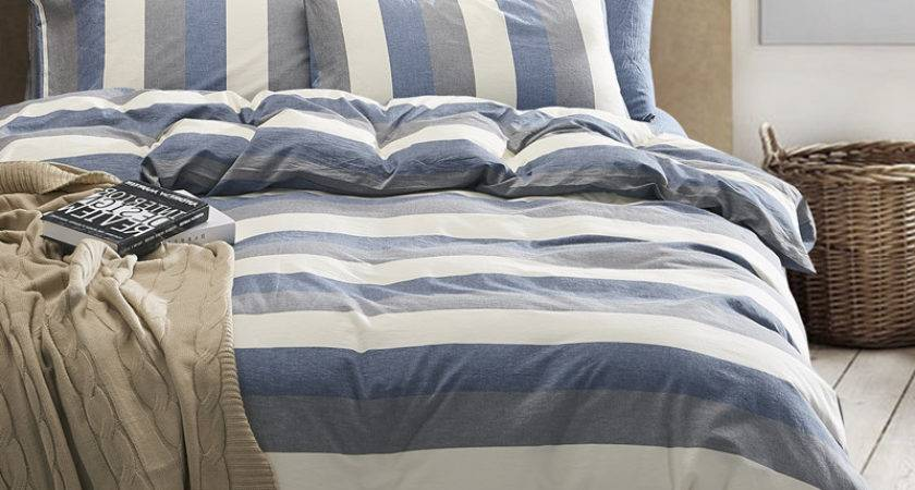 High Quality Washed Cotton Stipe Duvet Covers
