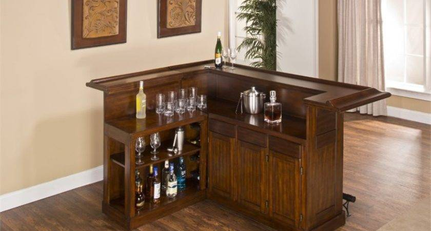 Hillsdale Classic Shaped Home Bar Brown Cherry