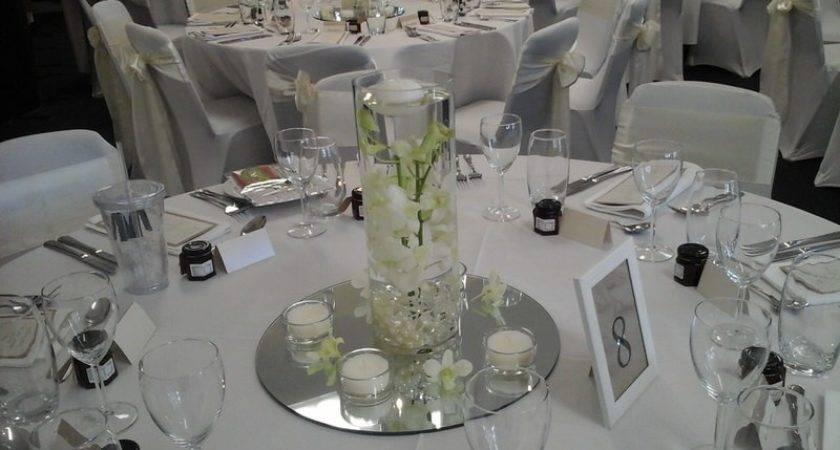 Hire Round Centerpiece Mirror Bases Wedding