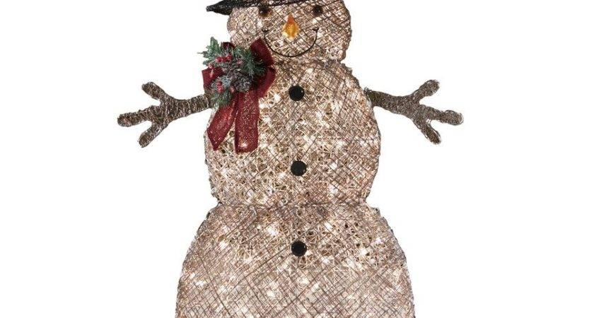 Holiday Living Lighted Vine Snowman Outdoor