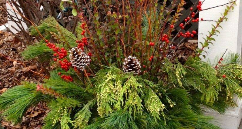 Holiday Outdoor Planters Twoinspiredesign