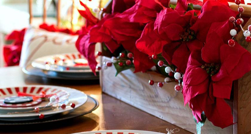 Holiday Table Setting Idea Red White Black