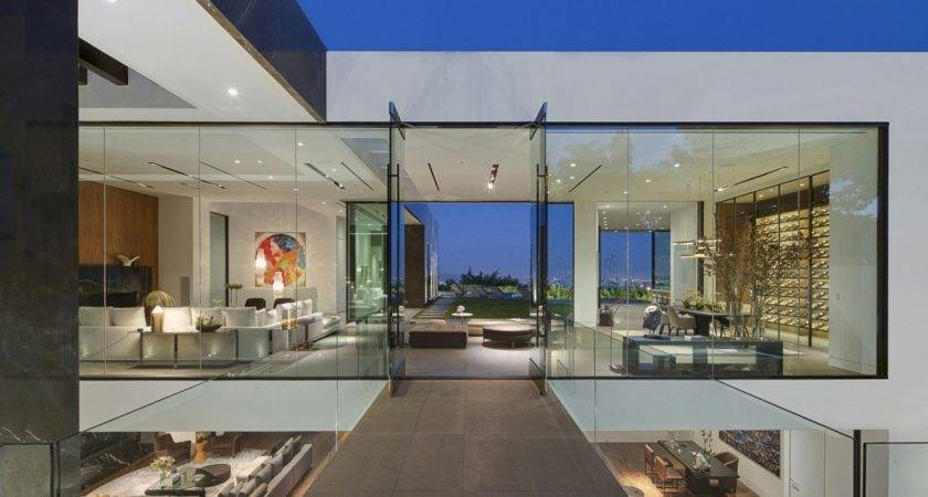Hollywood Bedroom Decor Glass House Interior Design All