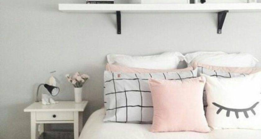 Home Accessory Nightstand Pillow White Black