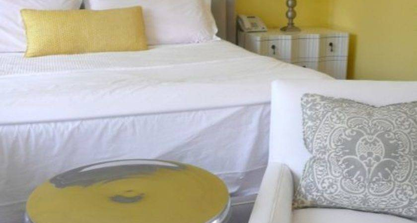 Home Decorating Grey Yellow Bedroom
