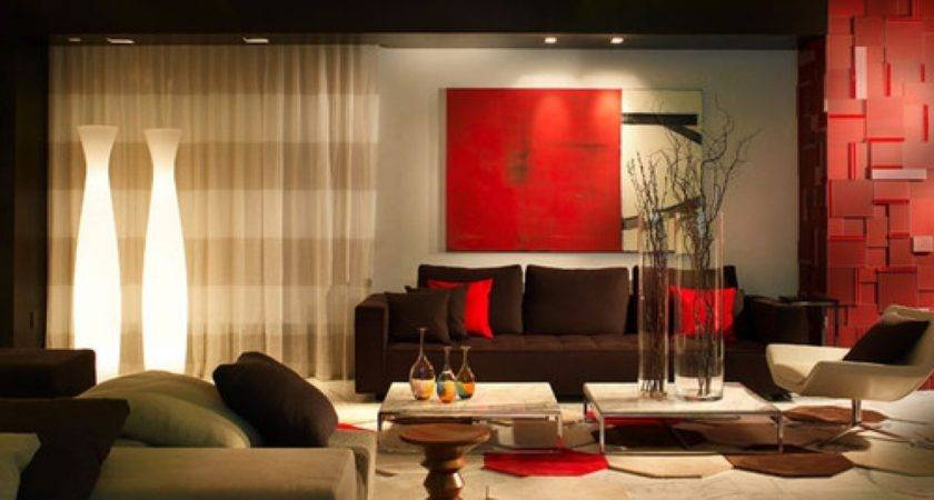 Home Design Excellent Red Living Room Decors