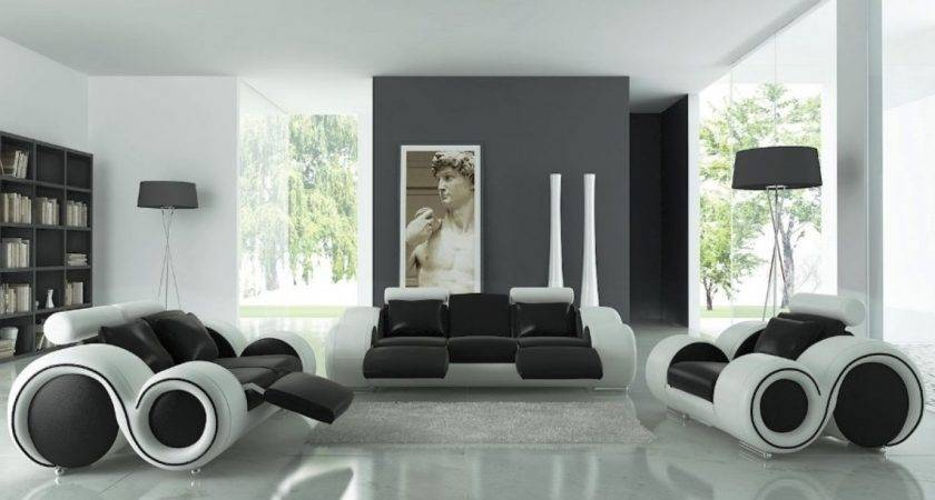 Home Design Mesmerizing Black White Living Room