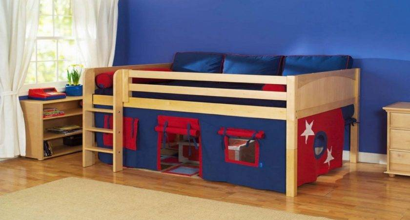 Home Element Simple Wooden Ikea Bunk Bed Added Tent