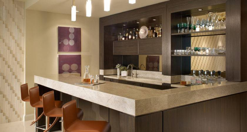 Home Mini Bar Counter Design