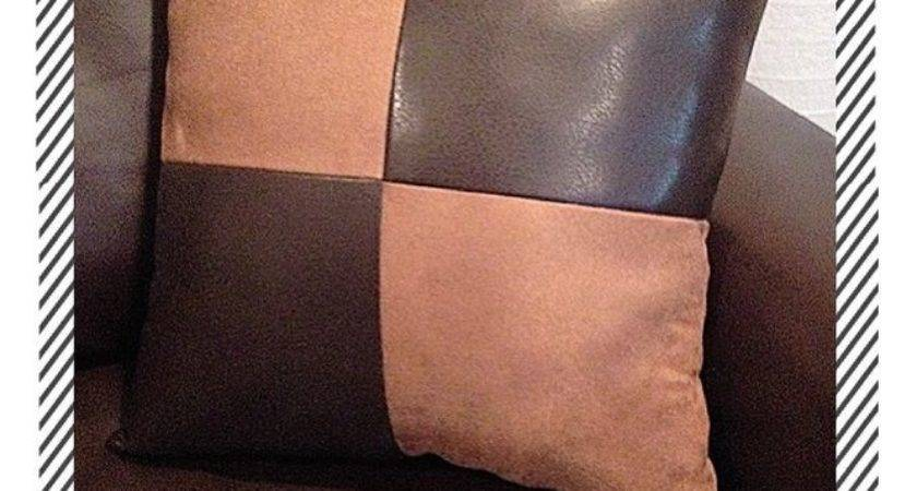 Home Sofa Brown Leather Fabric Suede Accent Decorative