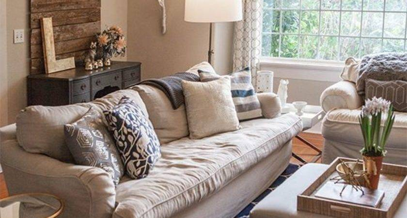 Home Tour Living Room Navy Gold Fall