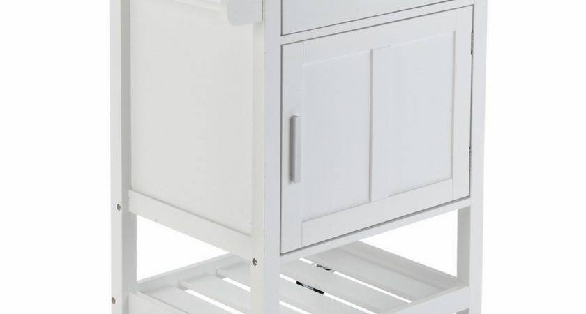 Homegear Deluxe Kitchen Storage Cart Island Rubberwood