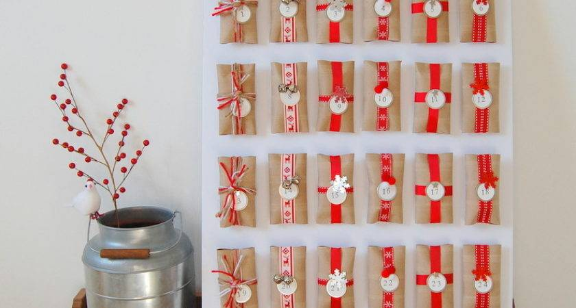 Homemade Advent Calendar Crafts Christmas