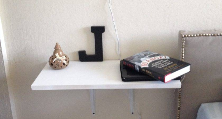 Homemade Floating Nightstands Wall Lamps