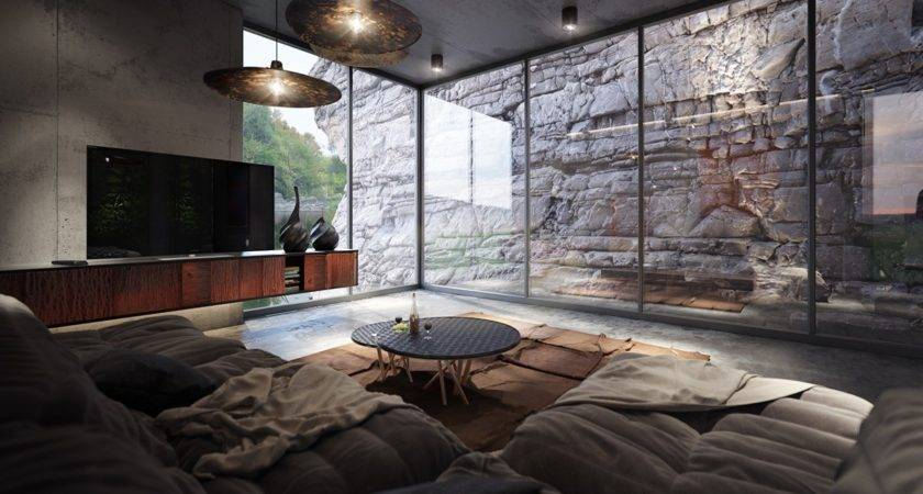 Homes Using Concrete Stylish Accent