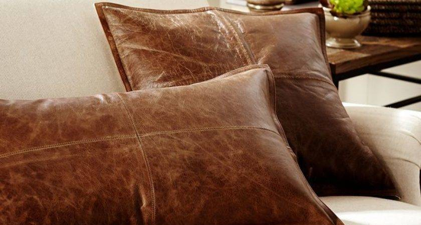 Hometalk Diy Pillow Faux Leather Pottery Barn Knock Off