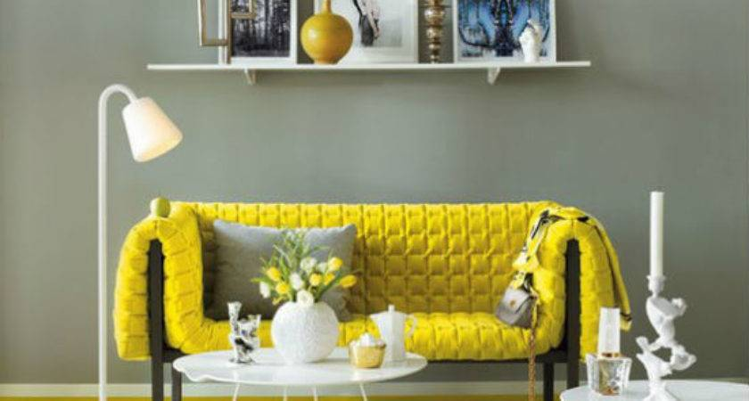 Hot Color Combo Yellow Gray Euro Style Home Blog