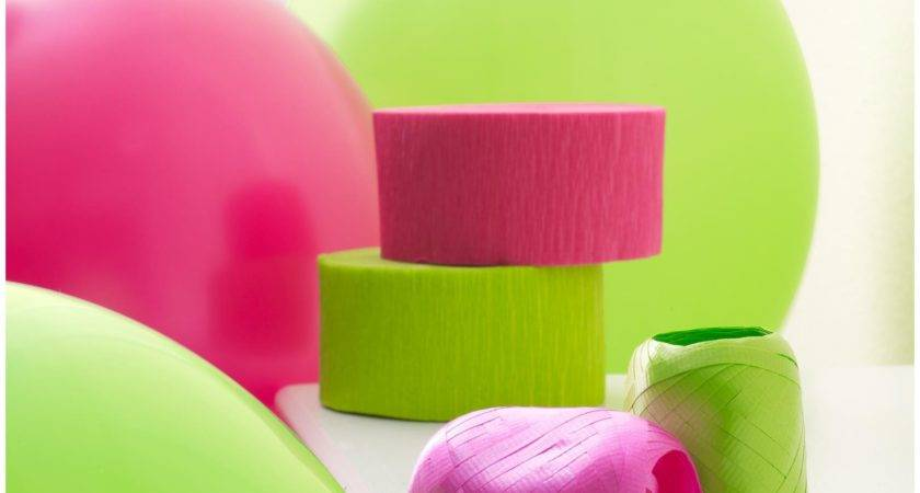 Hot Pink Lime Green Decorating Kit Partybell