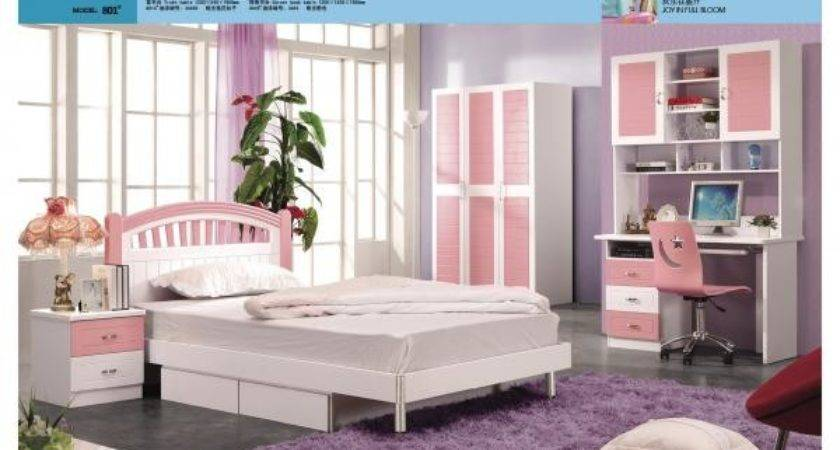Hot Sell Pink Girls Bedroom Set Children Furniture
