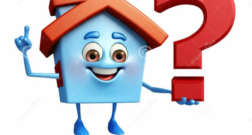 House Character Question Mark Illustration