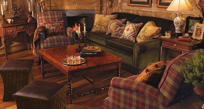 Hunting Lodge Decor Living Room Traditional White