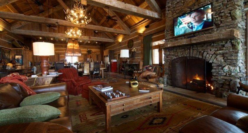 Hunting Lodge Great Room Living Reclaimed