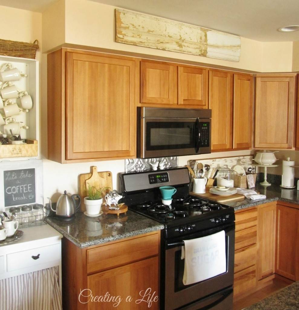 Ideas Soffit Above Kitchen Cabinets Homes Decor