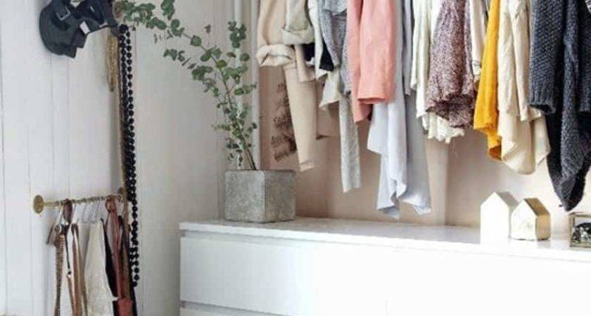 Ideas Storing Clothes Without Closets