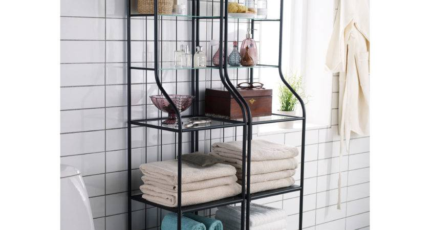 Ikea Glass Shelf Bathroom