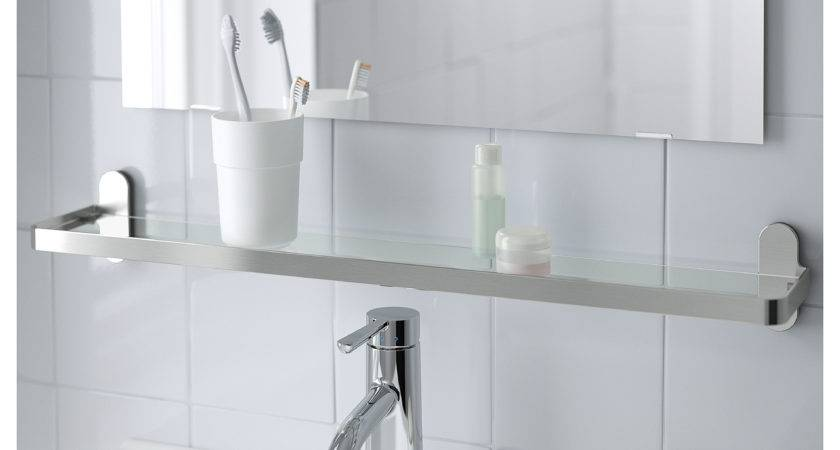 Ikea Glass Shelves Bathroom Small Toilet