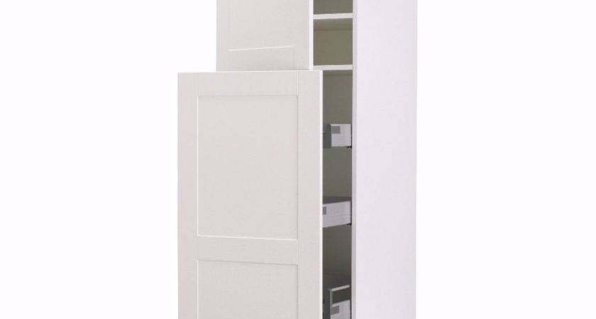 Ikea Tall Standing Kitchen Pantry White Cabinet